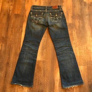 Big Star Liv Bootcut Distressed Jeans sz 27